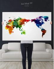 Unique World Map Canvas Wall Art - Image 2