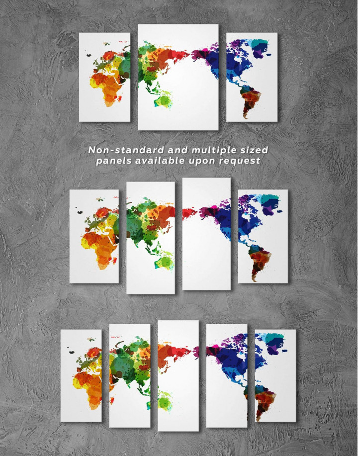 Unique World Map Canvas Wall Art - Image 5