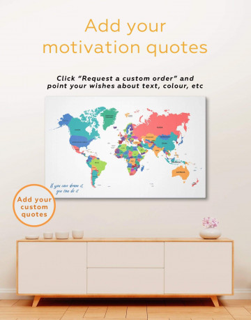Modern Abstract Map Canvas Wall Art - image 1