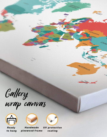 Modern Abstract Map Canvas Wall Art - image 4