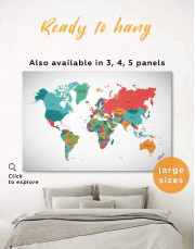 Modern Abstract Map Canvas Wall Art - Image 0