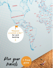 Map of the World Canvas Wall Art - Image 4