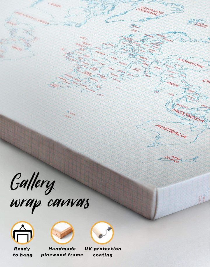 Map of the World Canvas Wall Art - Image 5