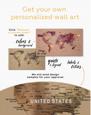 Map of the World Canvas Wall Art - Image 2