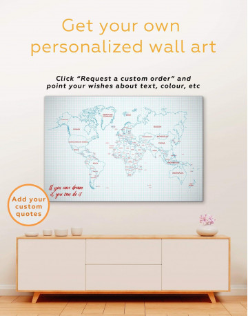 Map of the World Canvas Wall Art - image 1