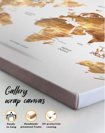 Golden Geometric World Map Canvas Wall Art - image 4