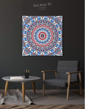 Blue Mandala Canvas Wall Art