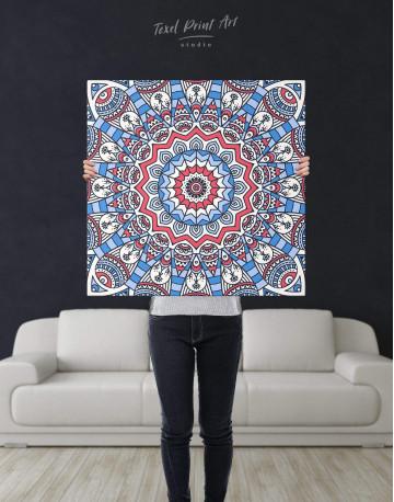 Blue Mandala Canvas Wall Art - image 2