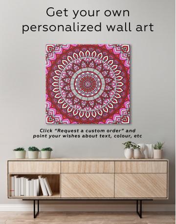 Blue Bohemian Mandala Canvas Wall Art - image 2
