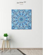 Light Blue Indian Mandala Canvas Wall Art