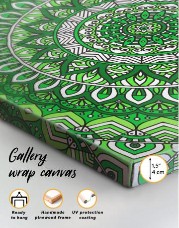Zentangle Green Mandala Canvas Wall Art - image 3
