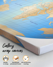 Abstract World Map With Oceans Canvas Wall Art - Image 3
