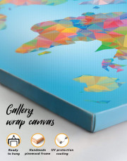 Abstract Geometric Map of the World Canvas Wall Art - Image 3