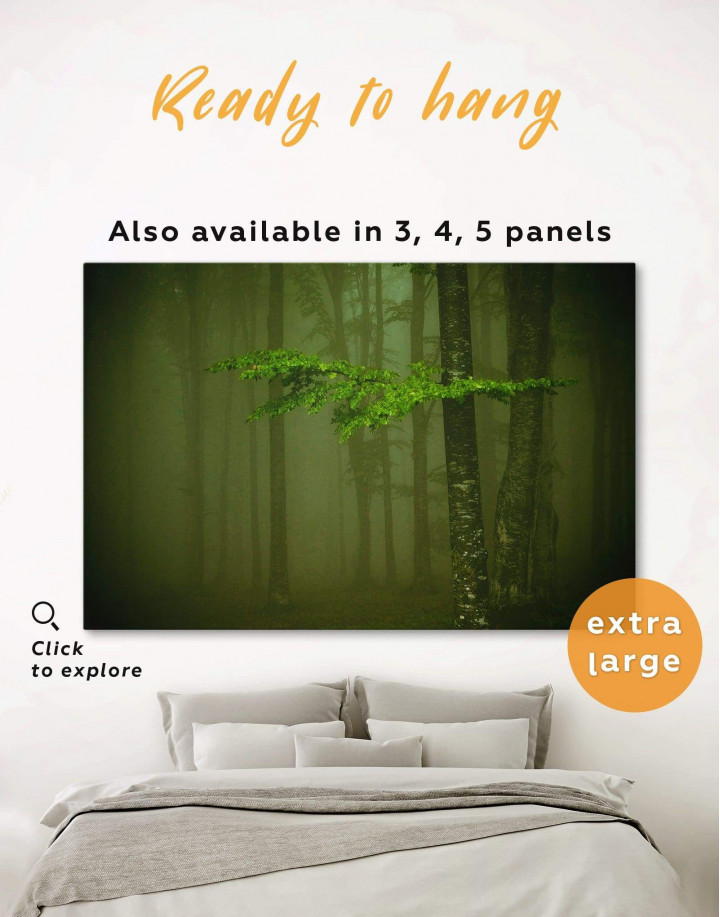 Mystic Forest Canvas Wall Art - Image 0