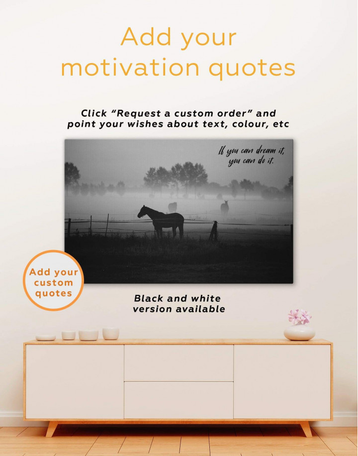 Horse on Pasture Canvas Wall Art - Image 4
