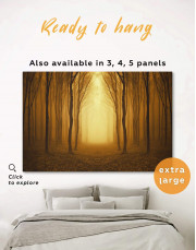 Autumn Lonely Road in Forest Canvas Wall Art