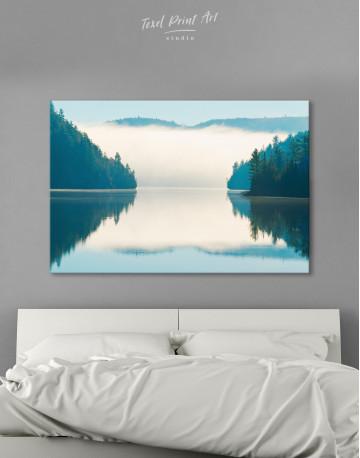 Sunrise on Lake Landscape Canvas Wall Art - image 7
