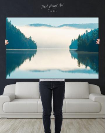 Sunrise on Lake Landscape Canvas Wall Art - image 1