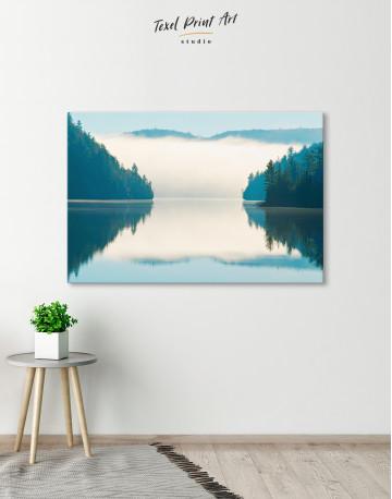 Sunrise on Lake Landscape Canvas Wall Art