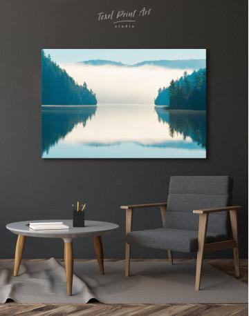 Sunrise on Lake Landscape Canvas Wall Art - image 6