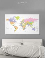 Pushpin World Map Canvas Wall Art - Image 5