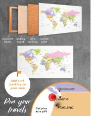 Pushpin World Map Canvas Wall Art - Image 4