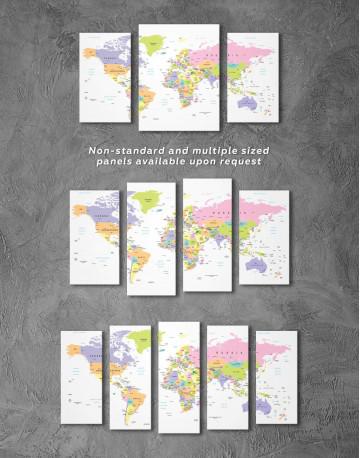 Pushpin World Map Canvas Wall Art - image 2