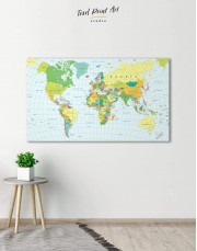 Classic Push Pin Map Canvas Wall Art