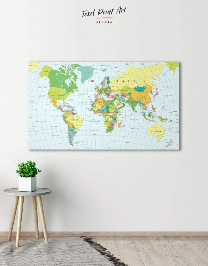 Classic Push Pin Map  Canvas Wall Art - Image 0