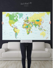 Classic Push Pin Map Canvas Wall Art - Image 5