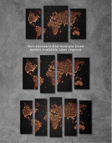 Night World Map Canvas Wall Art - image 5