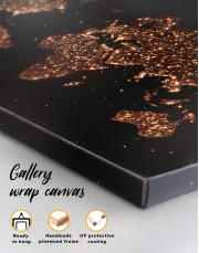 Night World Map  Canvas Wall Art - Image 3