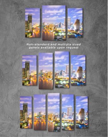 Evening Bangkok Skyline Canvas Wall Art - image 2