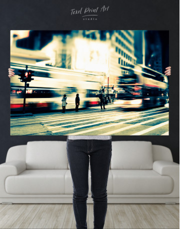 Night City Street Photography Canvas Wall Art - image 3