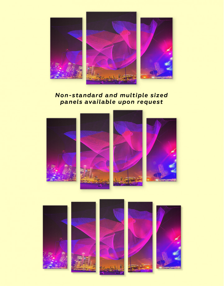 Abstract City Lights Canvas Wall Art - Image 4