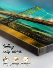 Golden Gate at Night  Canvas Wall Art - Image 1