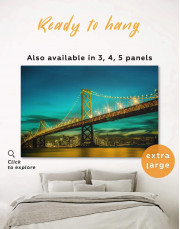 Golden Gate at Night  Canvas Wall Art - Image 0