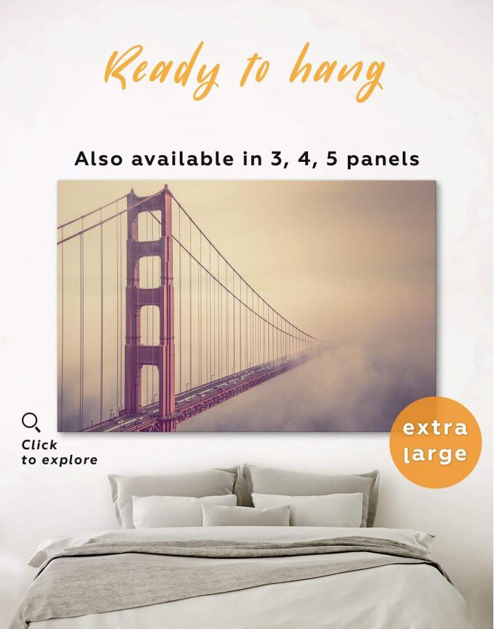 Golden Gate Bridge in San Francisco Canvas Wall Art - Image 0