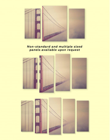 Golden Gate Bridge in San Francisco Canvas Wall Art - image 3