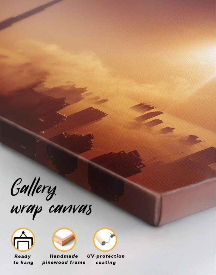 Dubai Sky Canvas Wall Art - Image 4