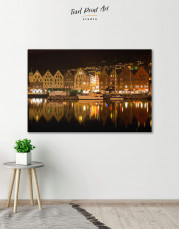 Bergen Cityscape  Canvas Wall Art - Image 0