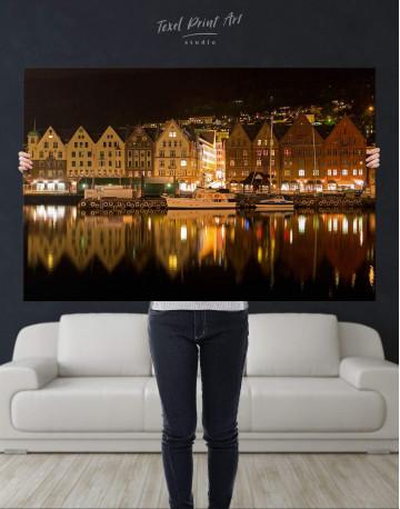 Bergen Cityscape Canvas Wall Art - image 2