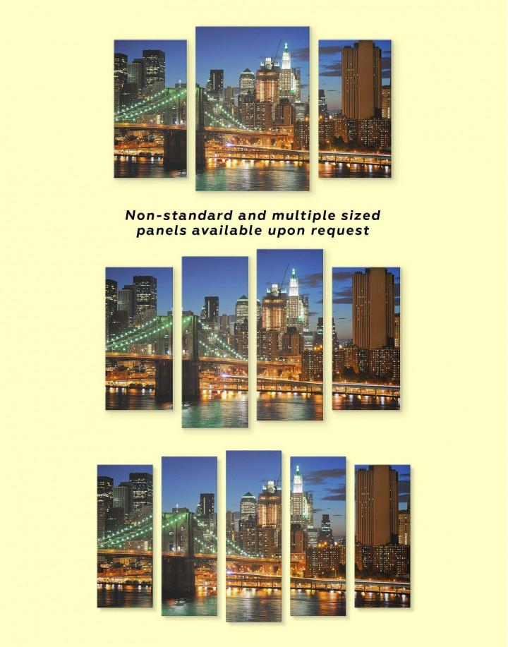 Brooklyn Bridge Skyline  Canvas Wall Art - Image 3