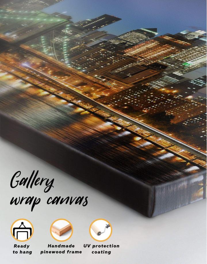 Brooklyn Bridge Skyline  Canvas Wall Art - Image 1