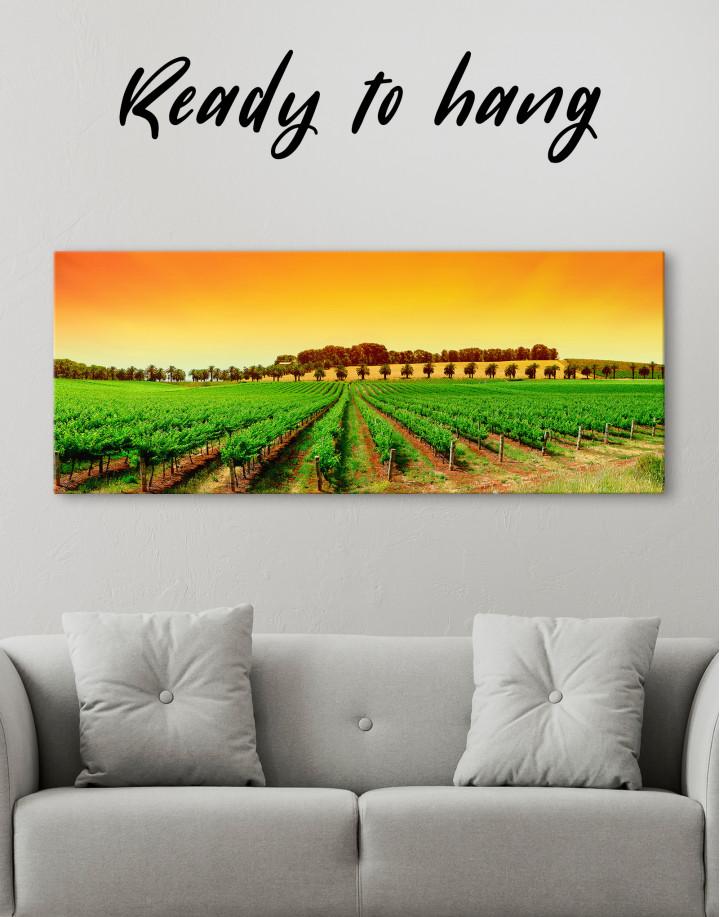 Panoramic Grape Fields Canvas Wall Art - Image 3