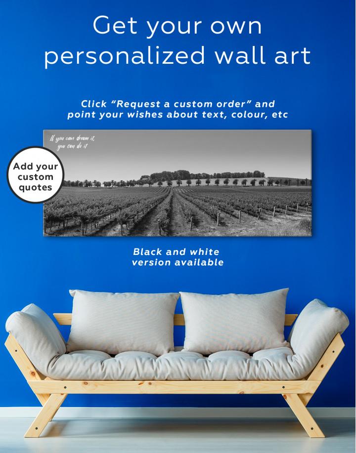 Panoramic Grape Fields Canvas Wall Art - Image 2