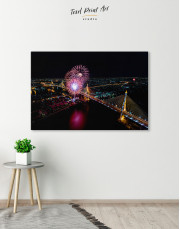 Aerial View of Fireworks Canvas Wall Art - Image 5