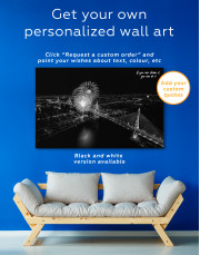 Aerial View of Fireworks Canvas Wall Art - Image 6