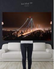 Night Golden Gate  Canvas Wall Art - Image 2