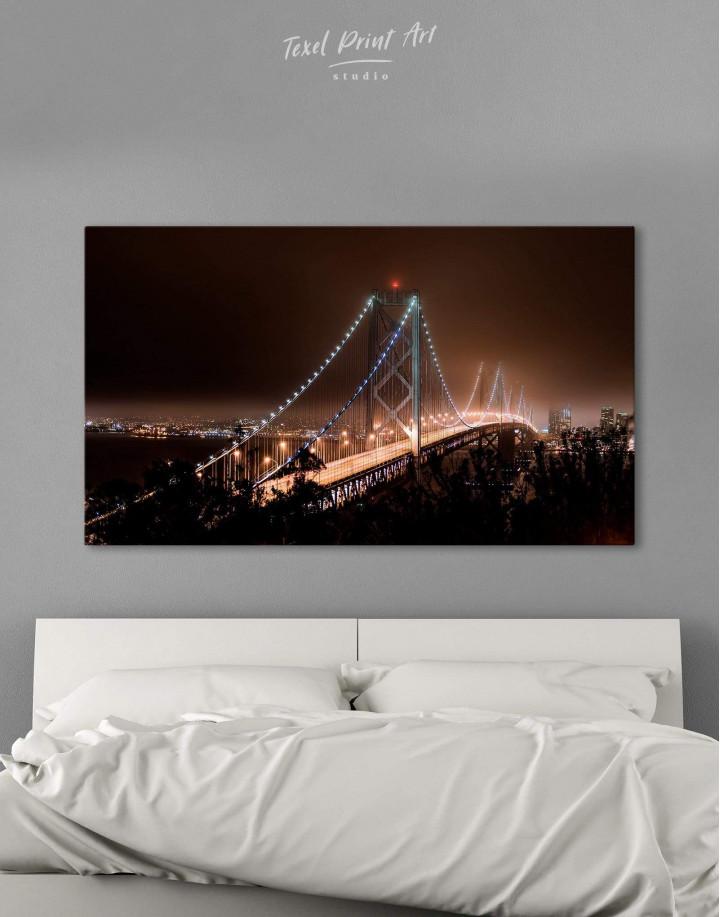 Night Golden Gate  Canvas Wall Art - Image 0